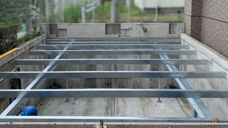 機械式駐車場の鋼製平面化の主な手順