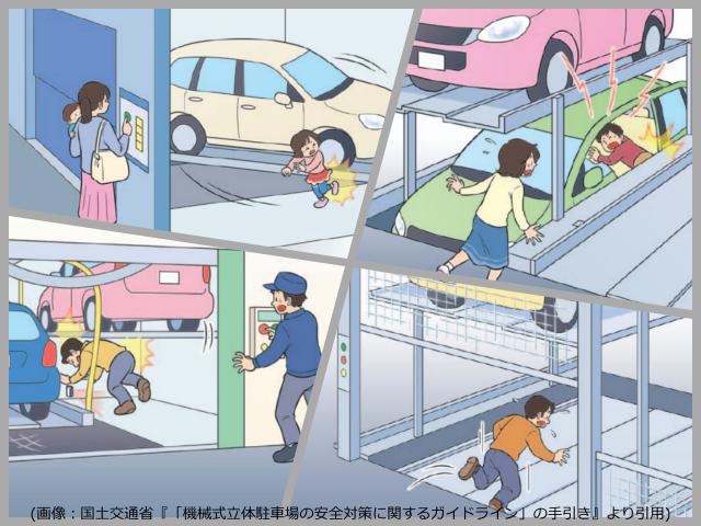 機械式駐車場で起こる事故について
