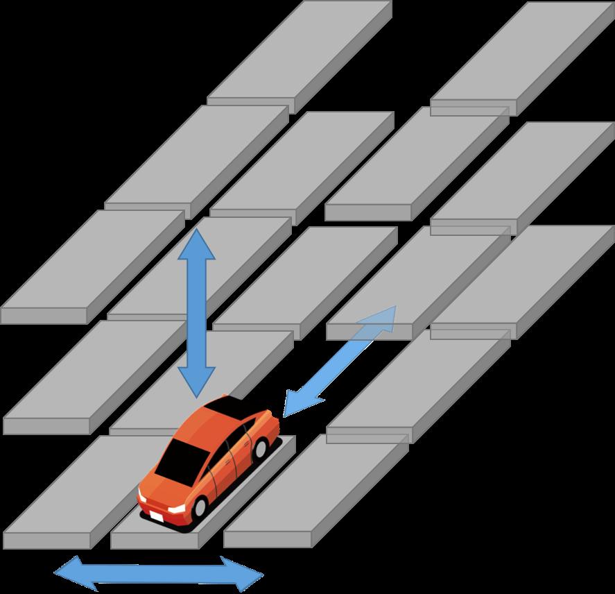 エレベータ・スライド方式の機械式駐車場