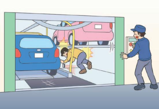 事故例:人感センサーの故障により人の存在を検知できず、装置に挟まれ死亡